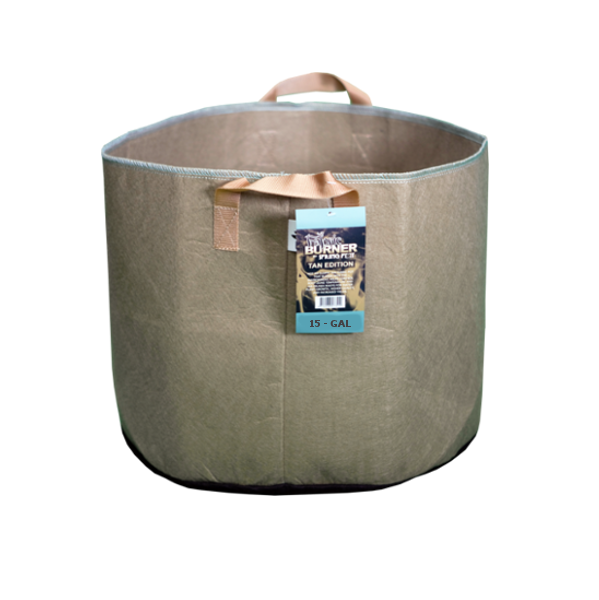 Tan Fabric burner fabric pot 15 gallon